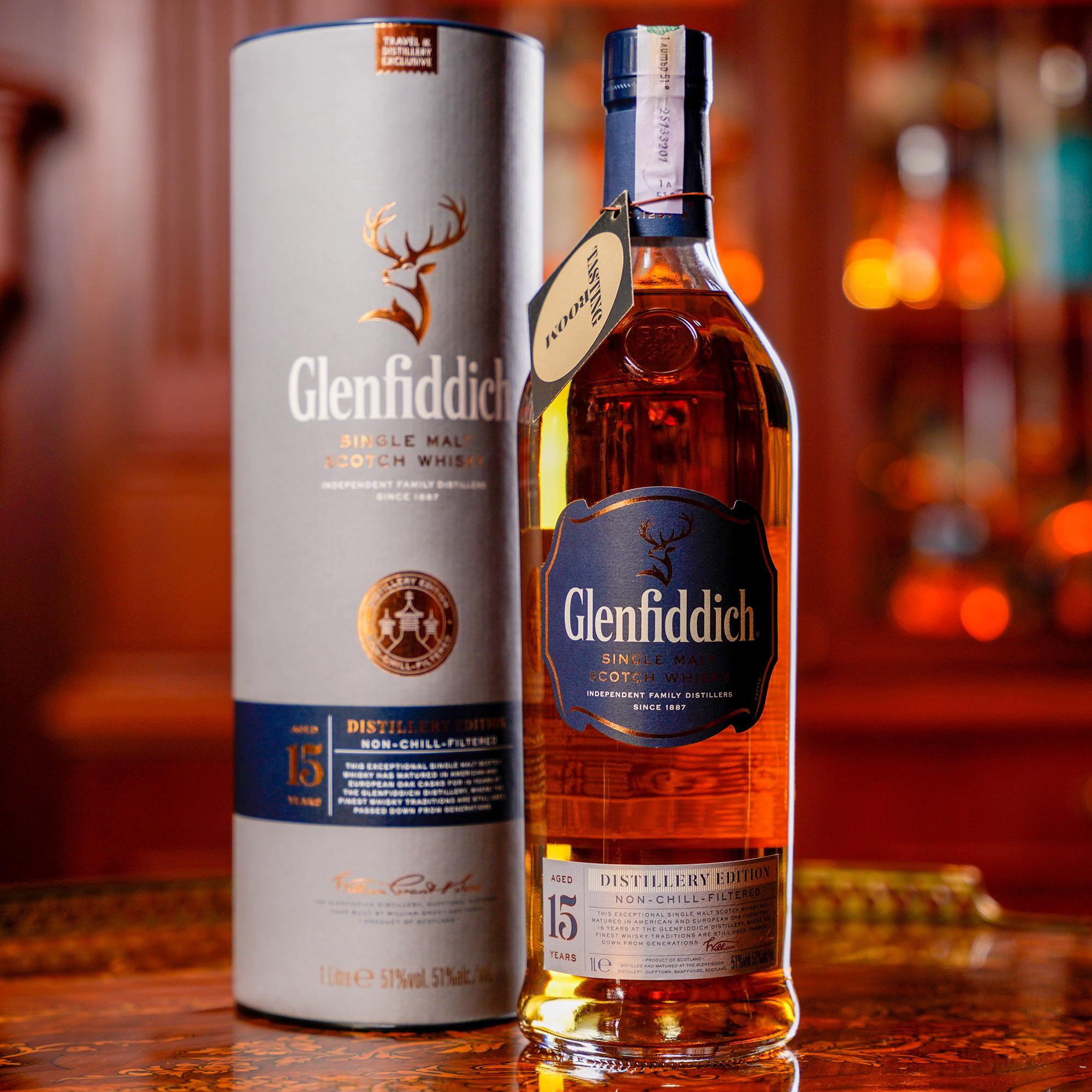 Glenfiddich 15 YO Distillery Edition /Гленфидих 15 годишен Дестилъри Едишън